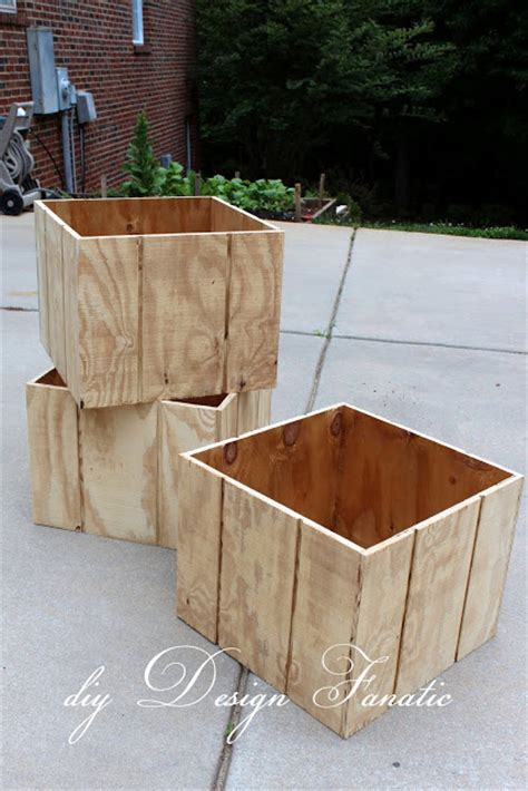 How To Build Wooden Planter Boxes by Diy Design Fanatic How To Make A Wood Planter Box