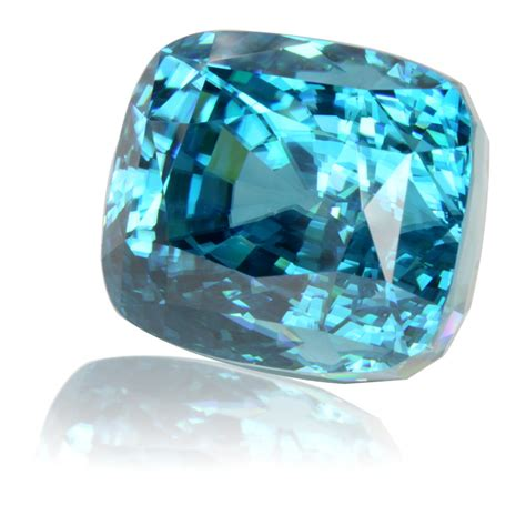 cambodian blue zircon cushion 42 68ct king gems