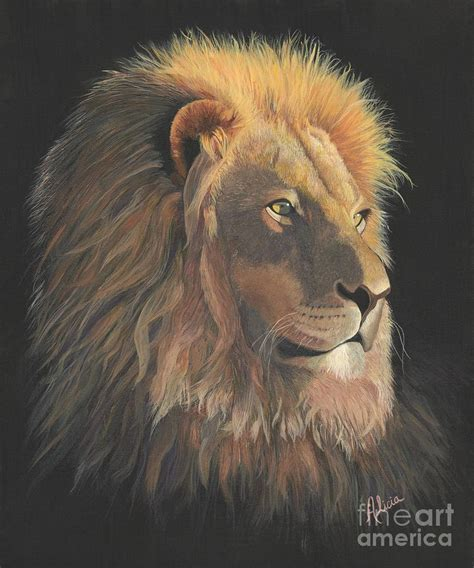 lion of judah painting by alicia fowler