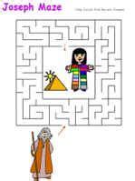 dltk bible stories joseph maze