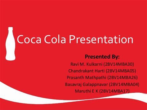 Coca Cola Ppt By Ravi Coca Cola Ppt