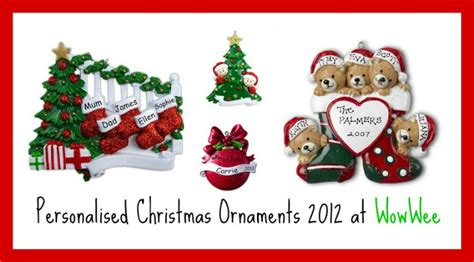 family personalised christmas tree decorations