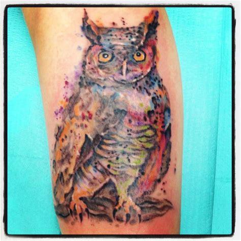 watercolor tattoo owl watercolor owl