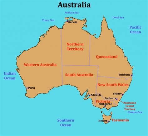 map of australia with oceans map of australia with oceans 8 some links for a class