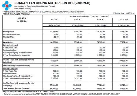 nissan almera price price list almera 2015 geartinggi