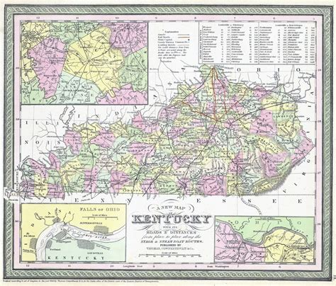 kentucky map detailed large detailed administrative map of kentucky state