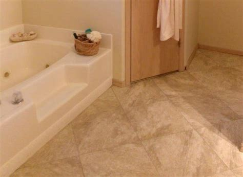 how to lay a quot travertine quot vinyl tile floor with grout