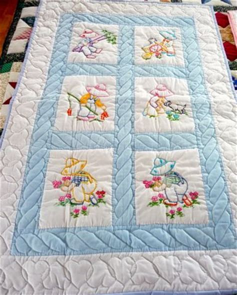 Handmade Childrens Quilts - handmade amish baby quilt embroidered overall sam