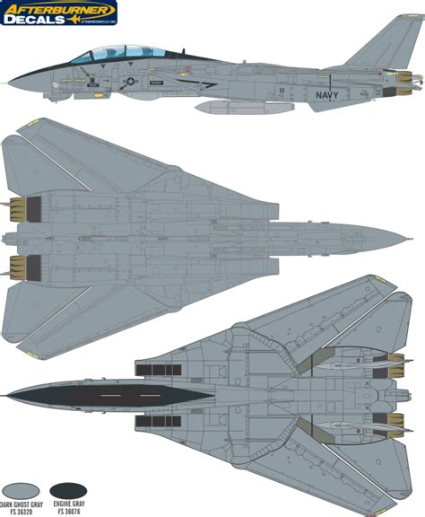 grumman f 14 tomcat ghost camouflage color profile and paint guide