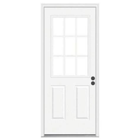 30x80 Exterior Door Jeld Wen 30 In X 80 In 9 Lite Primed Premium Steel Prehung Front Door With Brickmould 733711