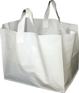 Rupert Goes Back To Plastic Bags by White Plastic Takeout Bags With Soft Loop Handle Half