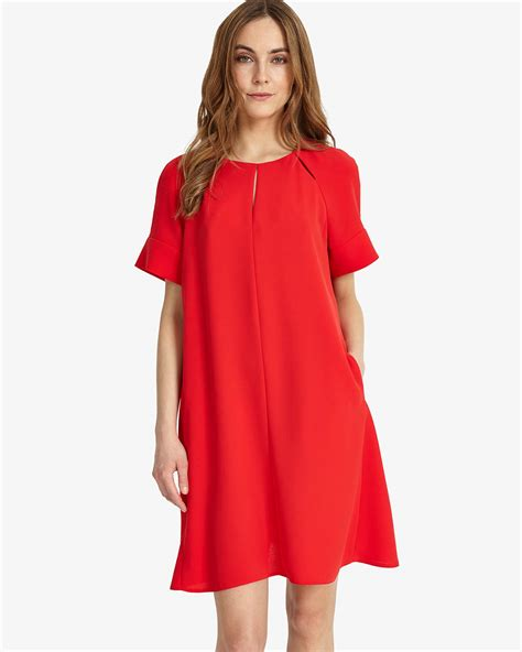 Zoe Swing Dress Red Phase Eight