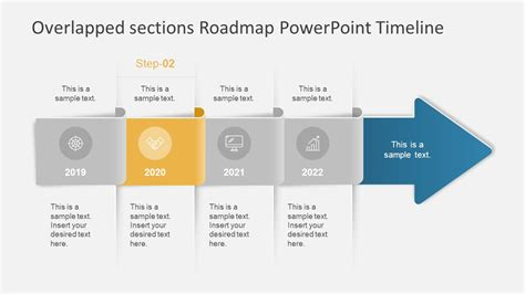 Overlapped Sections Roadmap Powerpoint Timeline Slidemodel Roadmap Template Powerpoint