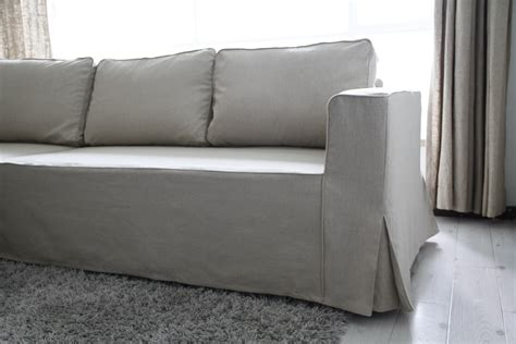 fitted settee covers loose fit linen manstad sofa slipcovers now available