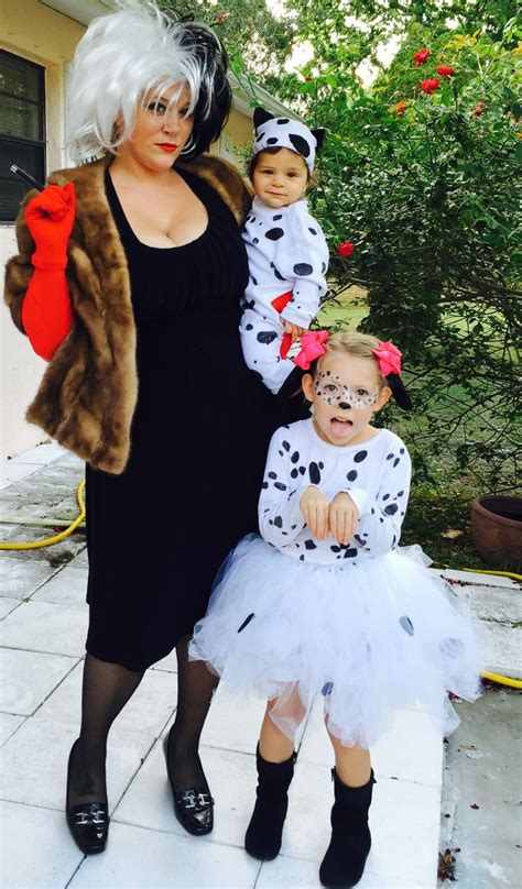 dalmatians diy family costumes baby girl halloween