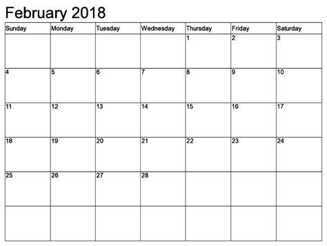 printable calendar letter size february 2018 calendar a4 printable calendar template