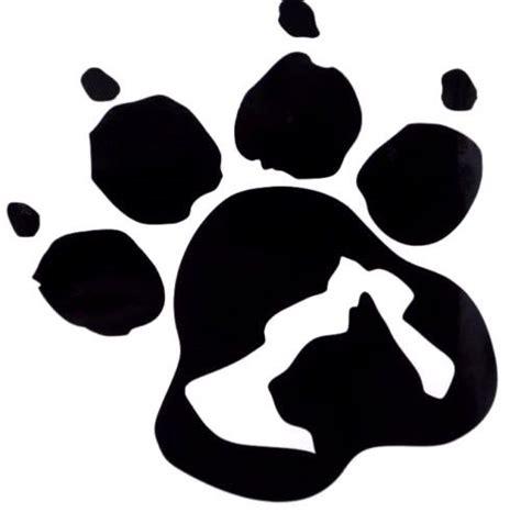 Dog Cat Silhouette Paw Print Car Truck Window Vinyl Decal Sticker 12 Colors Ebay Paw Print Silhouette