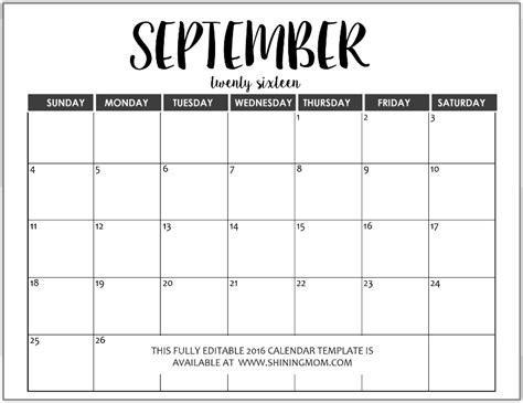 monthly calendar word calendar template 2016