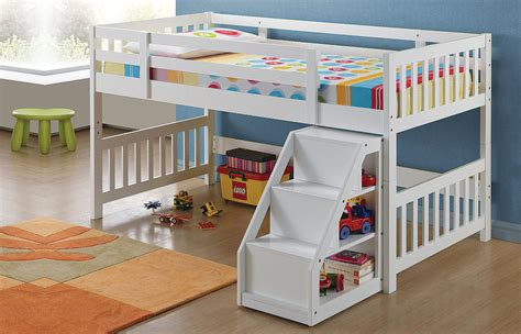 Sale Kelambu Tidur Ukuran 90x200 cutie white wood ladder loft bed w storage