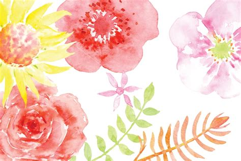watercolor clipart watercolor clipart summer meadow by cornercroft