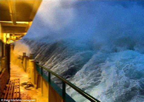 manly colours video shows a sydney ferry get battered by huge waves