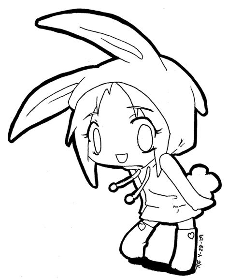 chibi bunny coloring pages color me usagi chibi by thedarkangel