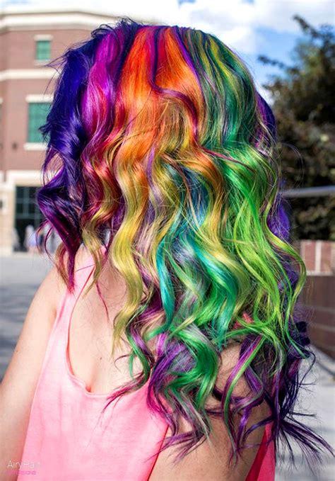 colorful short hair styles 20 crazy rainbow hair color ideas for 2016