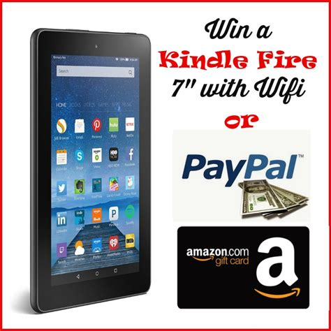 win a kindle or a win a kindle 7 with wifi 55 gc or paypal