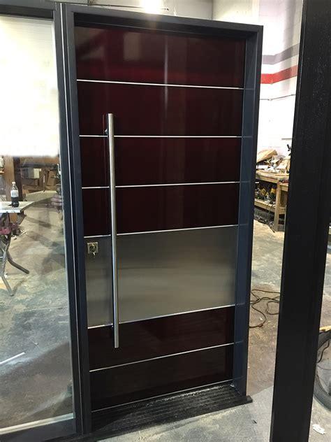 modern aluminum powder coated door  stainless steel