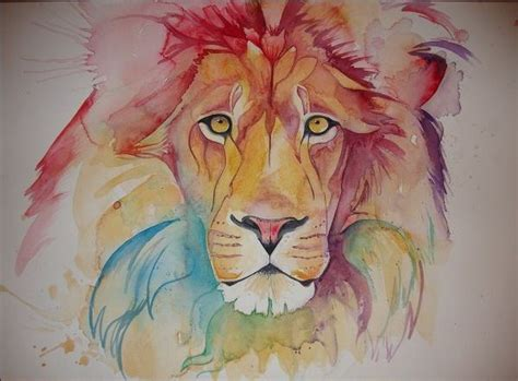 watercolor tattoo israel rainbow monarchs lions rainbows and