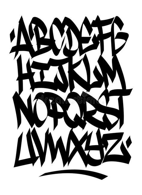 hand written graffiti font alphabet vector stock vector