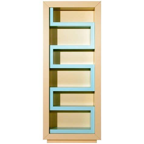Contemporary Bookshelf Contemporary Beige And Aqua Lacquer Bookshelf
