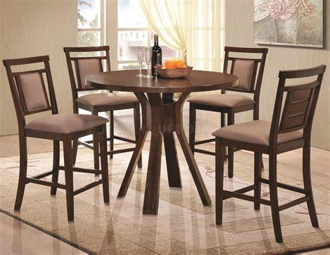 dark brown dining 105648 colona 5pc counter height dining set coaster dark brown