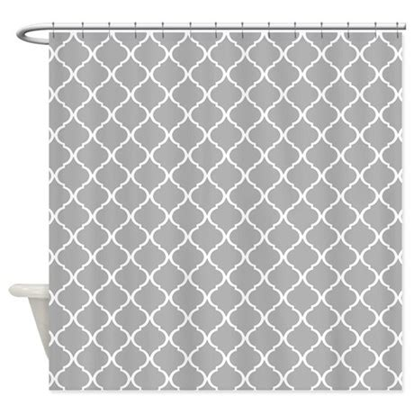 grey lattice curtains elegant light grey moroccan lattice shower curtain by