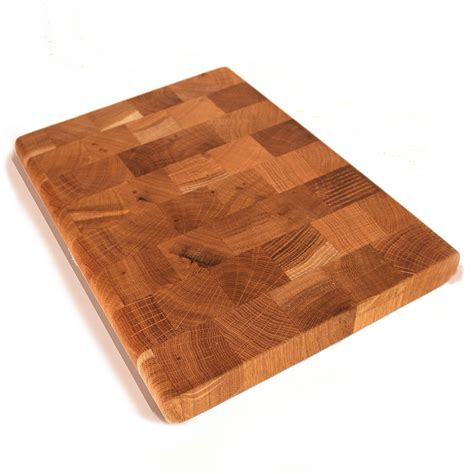 solid oak end oak end grain butcher s block chopping board by cleancut