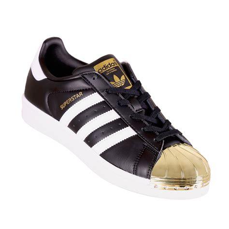 Sneaker Adidas Gold adidas shoe wmns superstar 80s metal toe low sneaker black