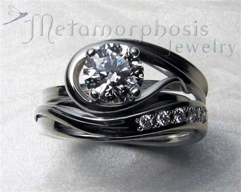 unique wedding rings for unique engagement ring set www pixshark images