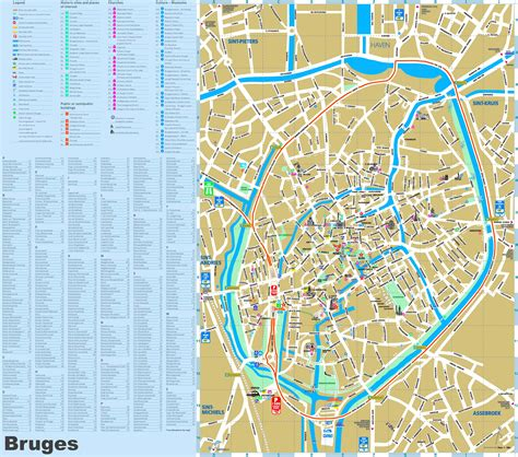map of tourist attractions 2 bruges tourist attractions map