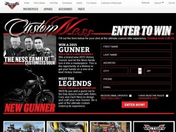 Victory Motorcycle Sweepstakes - victory motorcycles custom ness sweepstakes sweepstakes fanatics
