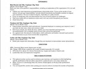 Job Monster Resume by Sample Resume Monster Jobs