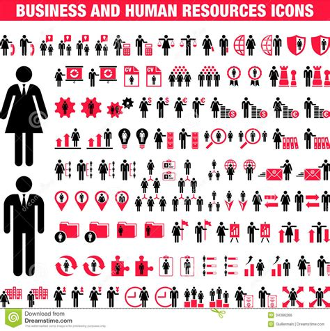 Set Of Business Icons Human Resource Finance Royalty Free Stock Photos Image 33611768 Business And Human Resource Icons Royalty Free Stock Image Image 34386266