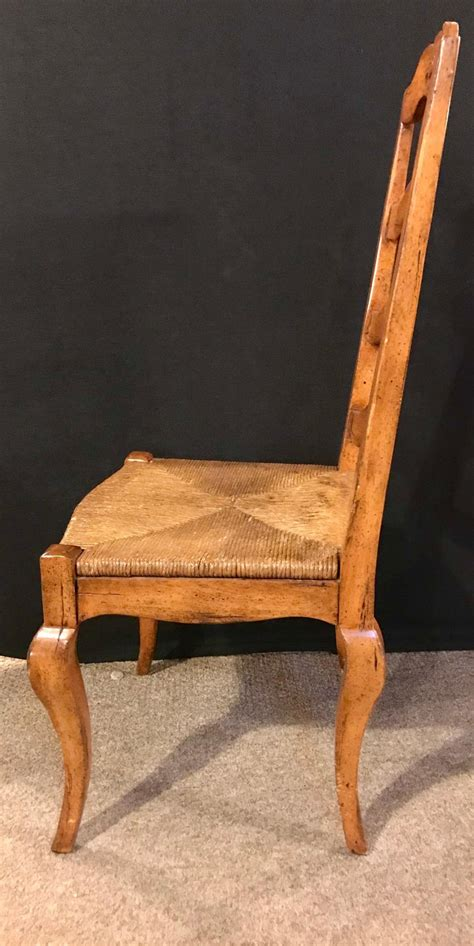 set   country french rush seat dining room chairs