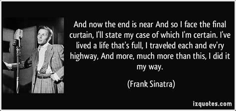 frank sinatra final curtain frank sinatra my way quotes quotesgram