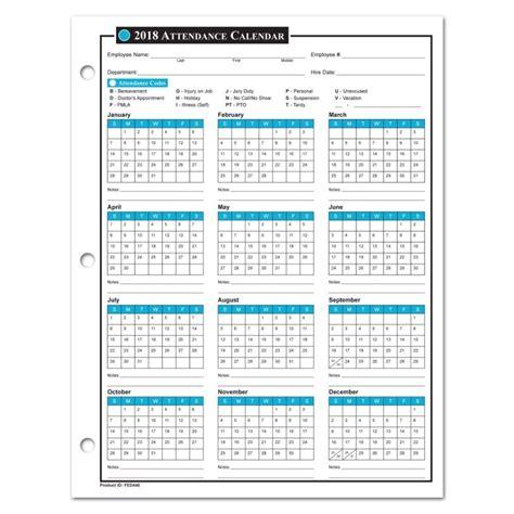 Employee Attendance Calendar 2018 Free Tracker Pdf Excel Template Section Work Attendance Calendar For 2015 New Calendar Template Site