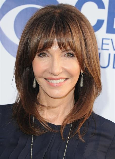 bangs on 40 year old 20 gorgeous shoulder length hairstyles for women over 50
