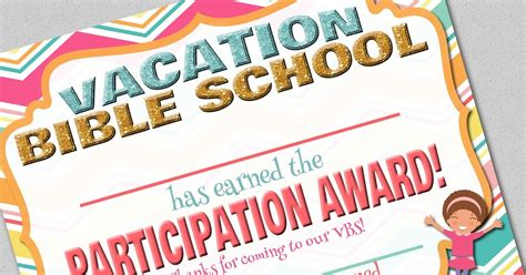 free vbs certificate templates fashionable free printable vacation bible school