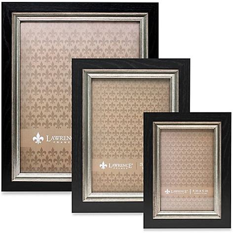 bed bath and beyond lawrence lawrence frames burnished silver inner picture frame in black bed bath beyond