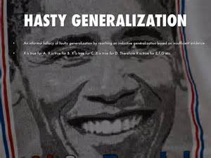 exle of hasty generalization logical fallacies by kyle galvan