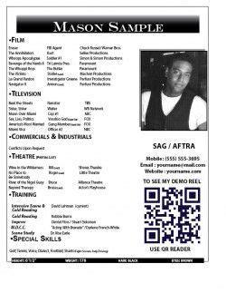 Resume Actor Headshot Resume Exles Templates Resume Pinterest Actors Resume Exles Headshot Layout Templates