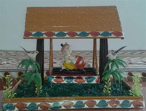 Home Decoration For Janmashtami by Simple Janmashtami Decoration Ideas Diy